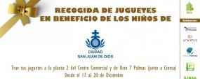 Esta Navidad Grupo IBSA organiza una recogida de juguetes en beneficio de San Juan de Dios
