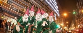 Acto de encendido de las luces de navidad en Parking Triana